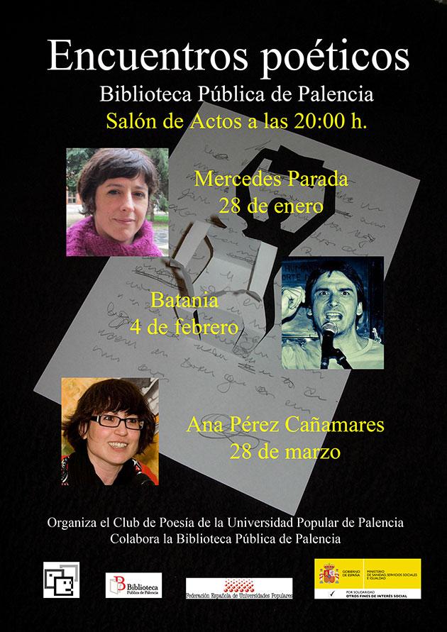 Encuentros poéticos en la Universidad Popular de Palencia