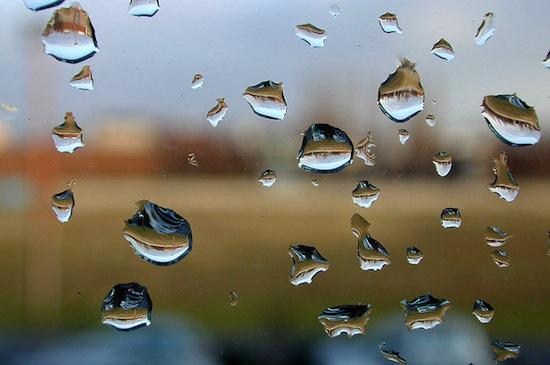 Gotas en un cristal