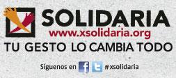 X Solidaria Tu gesto lo cambia todo