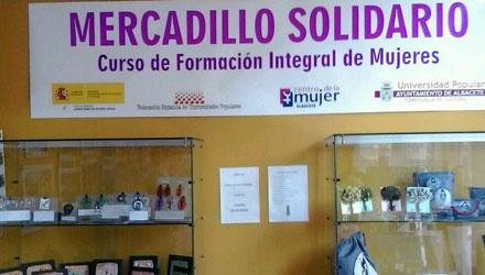 Mercadillo Solidario. Curso Formación Integral de Mujeres
