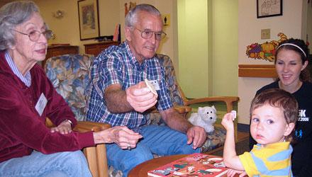 Ancianos, jóvenes y niños