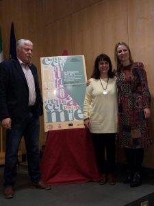 Juan A. Tovar, presidente saliente, Montserrat Morales, Coordinadora Gral. y Mónica Calurano, nueva presidenta de la FEUP